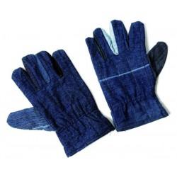 Rękawice drelich ocieplane