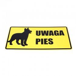 Tablica 14x29 UWAGA PIES...
